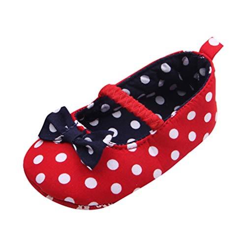 DIASTR Kleinkind Baby Mädchen Kinder Blume Leder Einzelne Schuhe Weiche Sohle Prinzessin Schuhe Sommerhaus Außerhalb Nette Sneaker Neugeborene Dot Anti -Slip First Walkers Soft Sole Shoes 0-18 Monate -