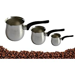 Dynore Stainless Steel Coffee Warmer Set, Set of 3, Silver