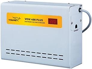 V-Guard VEW 400 Plus For Ac upto 1.5 Ton (90V-300V) Voltage Stabilizer (Grey)