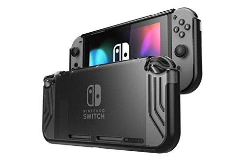 Étui pour Nintendo Switch de Mumba [Série SlimFit] Coque de protection hybride de qualité supérieuse pour Nintendo commutateur édition 2017, Noir