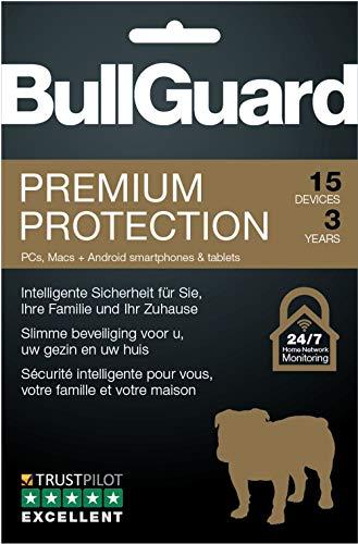 BullGuard Premium Protection 2019 - Lizenz für 3 Jahre und 15 Geräte! Windows|MacOS|Android [Online Code]