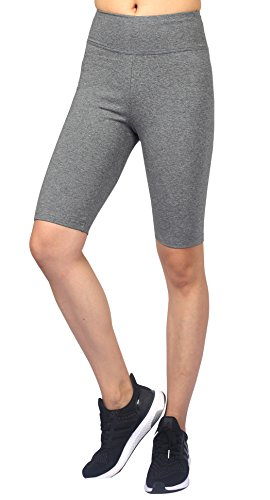 Neonysweets Leggings Femme Sport Pantacourt Yoga Exercice PhysiqueTaille Normale Gris