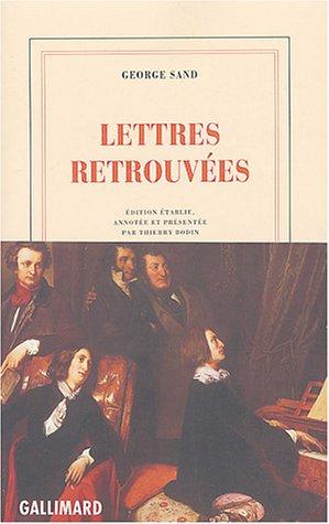 Lettres retrouvées par George Sand