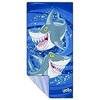 Yello BGG1591 Towel, Blue Sharks