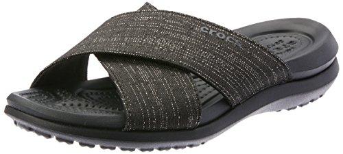 Crocs Damen Capri Shimmer Xband Women Sandalen, Schwarz (Black 060), 34/35 EU -