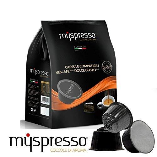 160 Capsule Myspresso Arancione- Miscela vellutata compatibile Nescafe Dolce Gusto