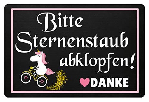 Einhorn Fußmatte · Einhörner · Fabelwesen · Glitzer · Fussmatte · Fabel · Unicorn · Pink · lustig · Spruch · Türmatte · Hoodie · T-Shirt · Geschenk - Fußmatte -60x40cm-Schwarz