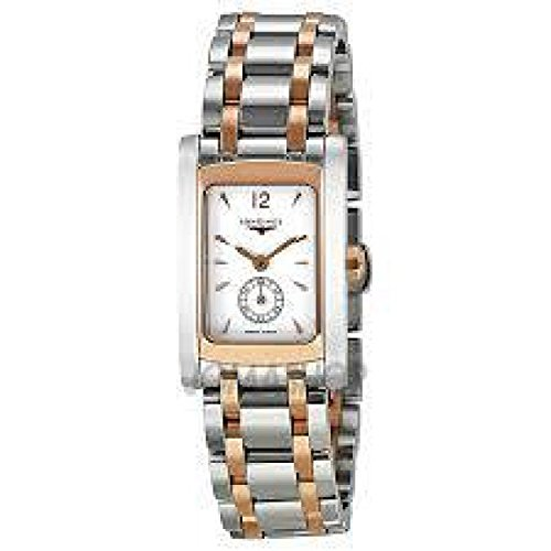 Women Longines watch L51555187 Quartz (Rechargeable) quandrante White Strap Stainless Steel