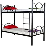 FurnitureKraft Milan Metal Bunk Bed,Black