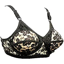 BEN COMM Lace Transparent Mastectomy Pocket Bra CD With Conical Sponge Push Up Pads