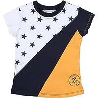 Zunstar Scott - Camisa/Camiseta de náutica para niño, Color Azul Oscuro/Naranja, Talla UK: Talla 74/80