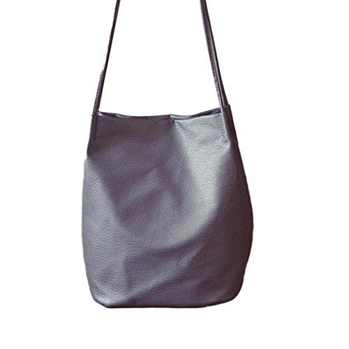 Mode féminine à main en cuir, Fami épaule Charme Messenger Bag Gris