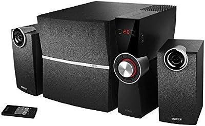 Edifier C2X 2.1sistema de altavoces PC con cajas y subwoofer estéreo Negro