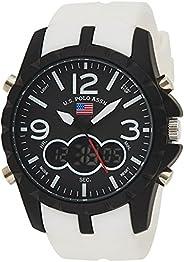 U.S. Polo Assn. Sport Men's US9250 White Analog Digital Sport W