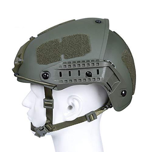 GEE STRANDING Taktische Helmbereichausrüstung Im Freien Schützender Normallacksturzhelmluftgewehr-Paintballschutzhelm Moderner Soldat, Der Sturzhelm Spielt,Green