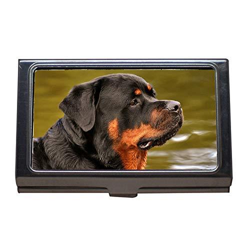 Visitenkartenetui, Rottweiler Reinrassiger Hund Tier Hund Friedliches Pet0, Visitenkarten-Etui aus Edelstahl