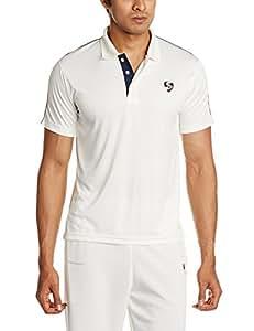 SG Century Half Sleeve Cricket Shirt, Small (White)
