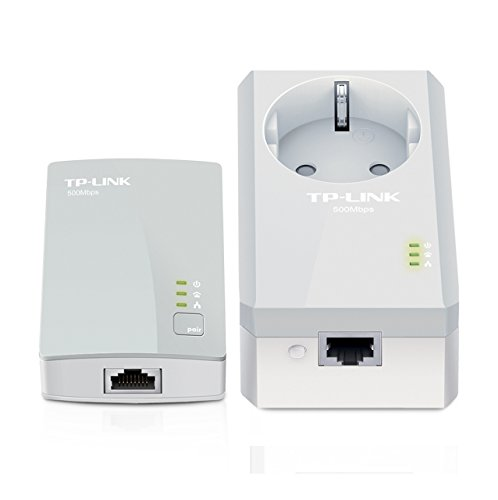 TP-LINK AV500 Passthrough Powerline Starter Kit 500Mbps Powerline Data Rate