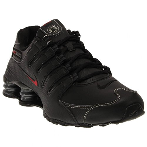 Shox NZ Cuir Chaussures de course Black/Vrsty Red-White-Anthrct