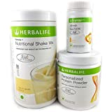 Herbalife Nutrition Shake Mix Vanilla Flavour Weightloss Package (Formula one vanilla shake 500gm, PPP 200gm, Afresh Lemon 50gm)