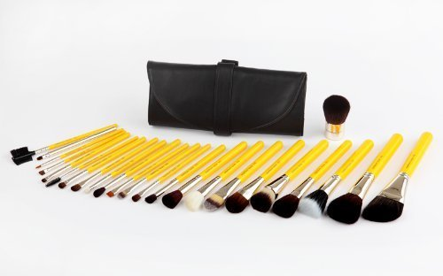 Bdellium Tools Professional Antibacterial Makeup Studio Line Luxury Brush Set with Roll Up Pouch Pac