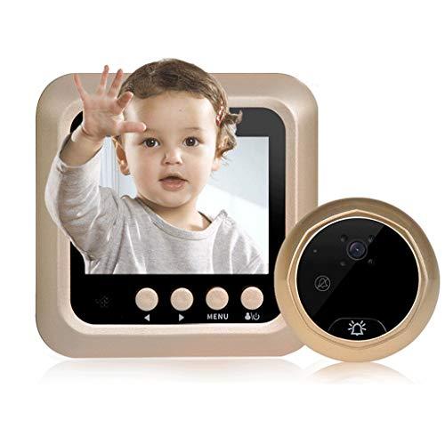 Lamp love Türklingel Visuelle elektronische Cat Eye Türklingel Home HD elektronische Überwachungskamera Smart Night Vision Security Türspiegel Haushaltswaren (Color : 2.4 inch Screen)