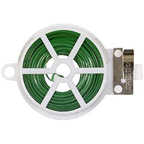 30m di filo rivestito in plastica verde giardino Tying in