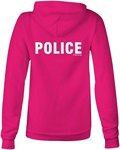 Police Polizei ★ Confortable veste pour femmes ★ imprimé de haute qualité et slogan amusant ★ Le cadeau parfait en toute occasion pink