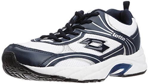 Lotto Men's Maiorca II White and Navy Mesh Running Shoes - 10 UK/India (44 EU)