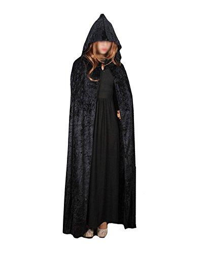 Kostüme Holloween Vampir (Halloween Hexe Zauberer Mantel Mit Kapuze Kostüm cloak Hooded Cosplay Halloween Dekoration Party Halloween Umhang Props KTV Bar Dekor Club Maskerade Cosplay Weihnachts)