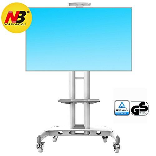 AVA1500WHT - Supporto TV da pavimento con ruote Carrello Staffa Porta Mobile Supporto per schermi da 32