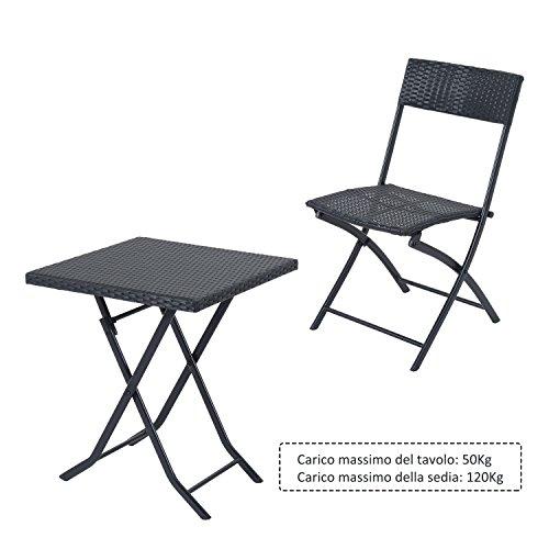 Set Tavolo E Sedie Rattan.Set Mobili Da Giardino In Poly Rattan