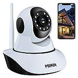 PRIKIM Telecamera WiFi 720P Wireless IP Camera Visione Notturna Audio Bidirezionale Allarme di Movimento Obiettivi Ruotabile Controllo Remoto da Dispositivi iOS Android e Windows