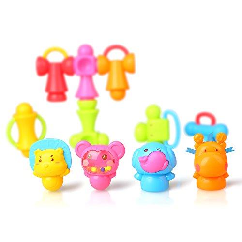 Peradix Baby Kinder Greifling Rassel 3D Puzzles DIY Spielzeug 12 PCs für Kinder ab 3 Jahre