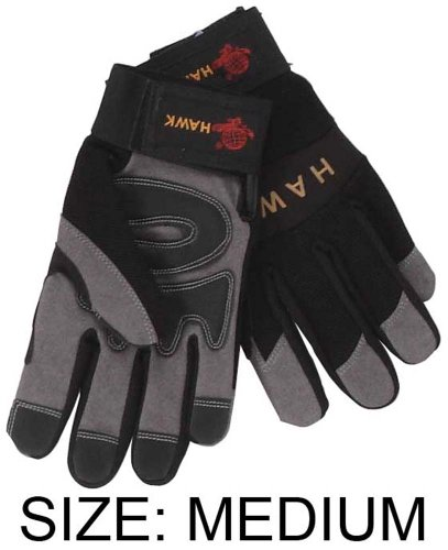 Preisvergleich Produktbild ToolUSA Men's Size Medium Synthetic Gray Suede And Black Spandex Mechanic's Gloves: GLM-76535