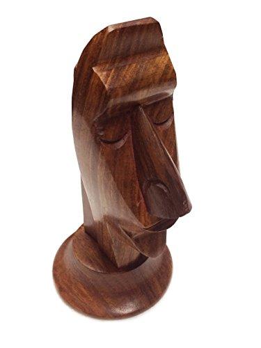 PMK Holz Handmade Brillenhalter, Brillen Halter Gesicht Design Holz Spektakel Display Halter für Männer und Frauen - 6 x 3 Zoll