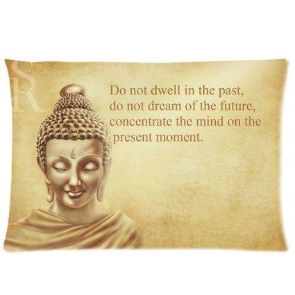 Buddha-Muster, Reißverschluss, mit Kissenbezug, Kissen Home, 16 x 24 Zoll (einseitig)