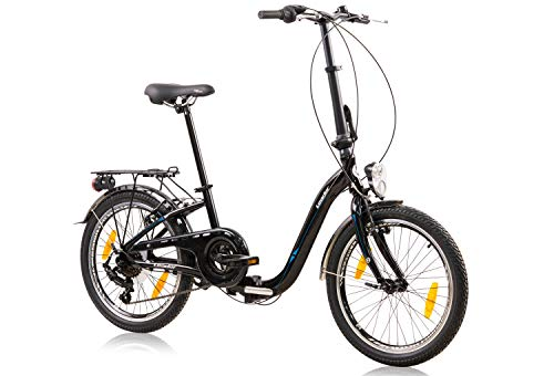 tretwerk DIREKT gute Räder Foldo 2.0 20 Zoll Klapprad, Falt-Fahrrad 6-Gang Kettenschaltung mit Gepäckträger
