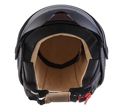 moto h44 vintage black jet helm pilot motorrad helm. Black Bedroom Furniture Sets. Home Design Ideas
