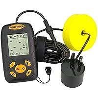 ACEOLT Pantalla LCD Buscador de Peces de ultrasonido portátil Buscador de Peces, sonda de Profundidad y Temperatura del Agua con Sensor de sonda con Cable Transductor para Pesca en Barco