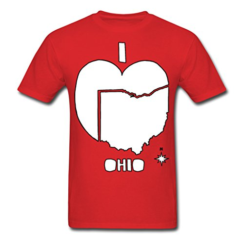 Discount I Heart Ohio Red male jersey Medium (Ohio T-shirt Jersey)