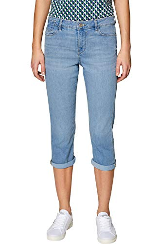 edc by Esprit 039CC1B030 Jean Droit, Blau (Blue Light Wash 903), 30W Femm
