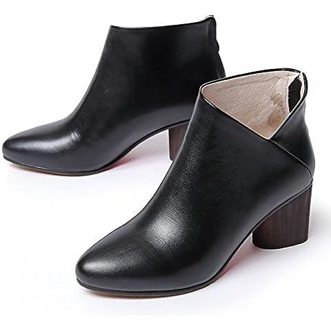 Tondo testa/ hollow fuori cuoio stivali MartinV stivali/ spesso e corto per autunno/inverno stivali/ scarpe casual