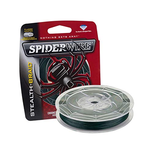 SpiderWire Stealth Superline Angelschnur, geflochten, Braided Fishing Line, moosgrün, 10/4 Pound Test-125 Yard (Ultracast Ultimate-braid)