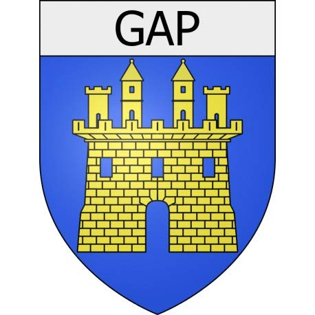 Gap 05 City Sticker Wappen selbstklebend 12 cm