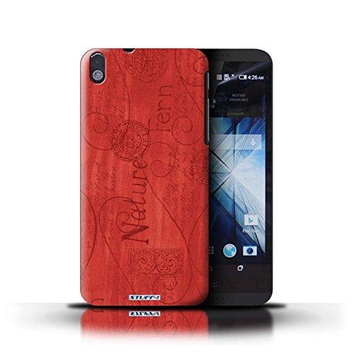Kobalt® Imprimé Etui / Coque pour HTC Desire 816 / Jaune conception / Série Motif Nature Rouge