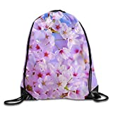 Hats New Cherry Blossoms Sakura Unisex Drawstring Backpack Travel Sports Bag