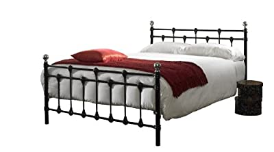 Oxford double (4ft6) metal bed frame - black/chrome