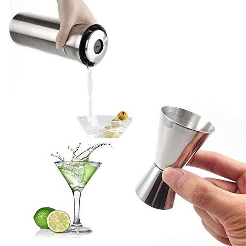 Kkuoyuann Edelstahl Double Single Shot Maßnahme Jigger Spirit Bar Cocktail Drink Cup -