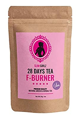 Slim Girlz 28 Days Fat Burner Tea | for Women | 85g Loose Leaf | Slim Tea for Weight Loss | Detox Tea | Diet & Fat Loss Tea | Cleanse Tea | Natural Dietary Supplement | for More Successful Diet from Slim Girlz